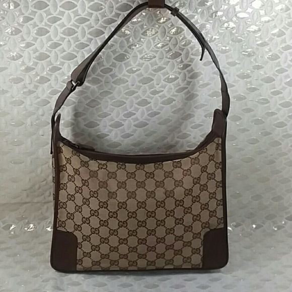 9155fd27c8b5 Gucci Handbags - Authentic Gucci GG Monogram Brown Canvas Hobo Bag